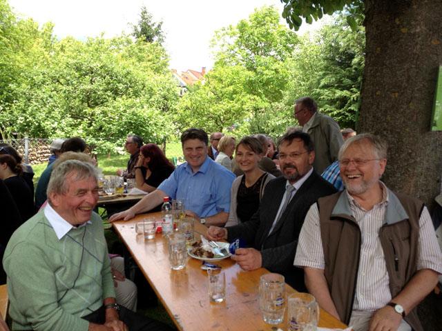 (v.l.) Günter Dehn, Bürgermeister a.D.; Winfried Bausback, MdL; Judith Gerlach, Listenkandidatin zum Landtag; Thomas Gerlach, Stadtrat; Werner Elsässer, Bürgermeister