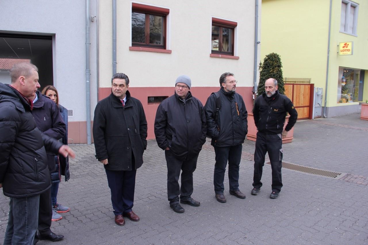 v.l. Roland Mathieu, OB Klaus Herzog, Martin Völker, Thomas Gerlach, Gerald Otter